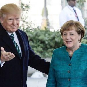 Merkel e Trump, primo faccia a faccia (con Ivanka) FOTO