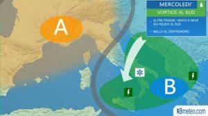 Allerta meteo al Centro-Sud: in arrivo piogge, venti forti e neve