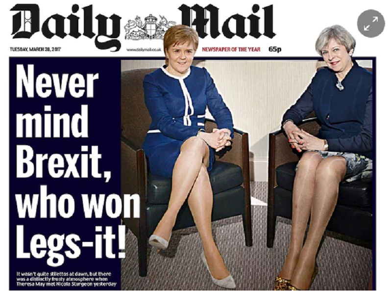 """Ma quale Brexit"": gambe Theresa May e premier scozzese sul Daily Mail"