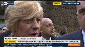 """Fosse Ardeatine, ministro Pinotti: """"Occasione per non dimenticare quanto accaduto a Londra"""