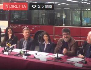 Virginia Raggi, bus e metro: conferenza stampa contro chi non paga biglietto VIDEO
