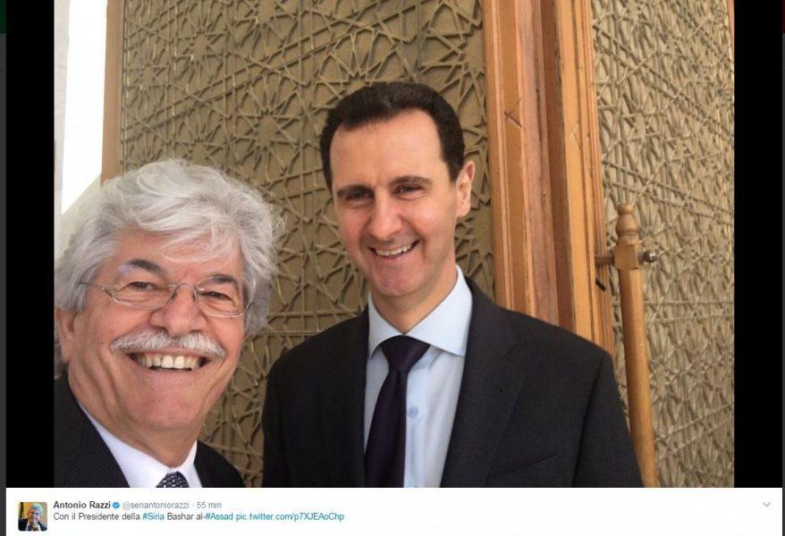 Siria, il senatore Razzi e il selfie con Assad