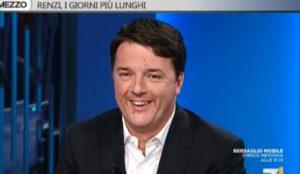 """Renzi e i chili di troppo, siparietto con Gruber e Cerno: """"Fatevi i fatti vostri"""" VIDEO"""