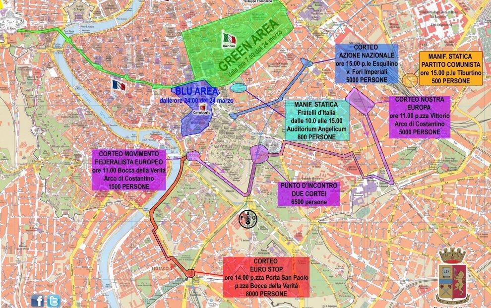 In migliaia a Roma per il corteo Eurostop
