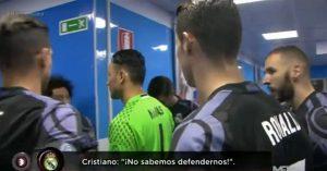 """YOUTUBE Cristiano Ronaldo, sfogo con i compagni """"Non sappiamo difendere"""""""