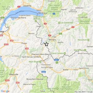 Terremoto, scossa magnitudo 3.2 a Chamonix. Avvertito anche in Valle d'Aosta