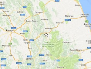Terremoto Macerata, scossa di magnitudo 3,0