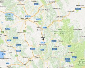 Terremoto Perugia, scossa di magnitudo 2,8. Epicentro a Campello sul Clitunno