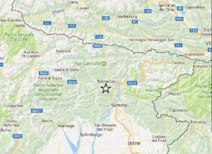 Terremoto Udine, scossa di magnitudo 2,4. Epicentro a Tolmezzo