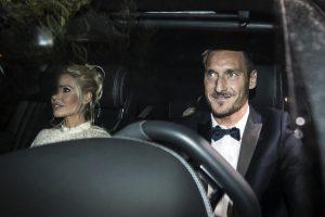 Francesco Totti e Ilary Blasi, notte di festa a San Lorenzo