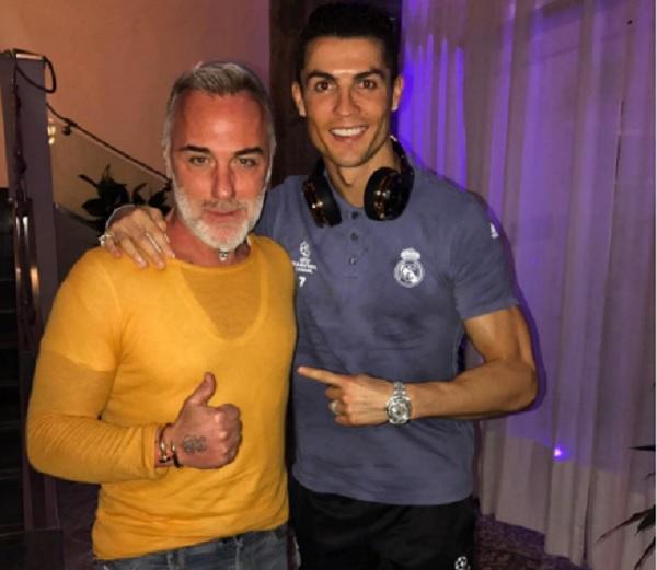 Napoli-Real Madrid, Gianluca Vacchi con Cristiano Ronaldo FOTO