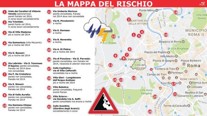 Roma, 8 case su 10 sono a rischio crollo: in città 20 zone rosse MAPPA 01