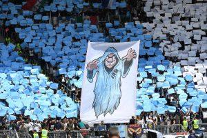 Roma-Lazio 1-3, foto: striscioni, coreografie Curva Sud e Curva Nord