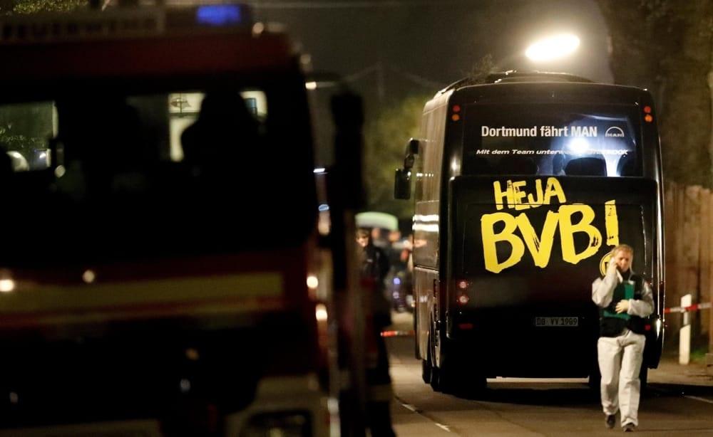 Bombe contro il bus del Borussia: voleva guadagnare in borsa