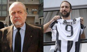 """Napoli, De Laurentiis attacca Higuain: """"E' un traditore, ha una cultura piccola"""""""