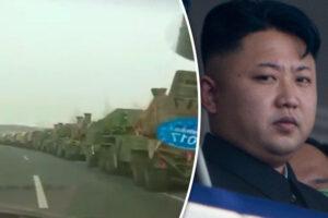 Corea del Nord, la Cina schiera decine di veicoli militari al confine