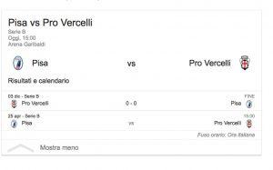 Pisa Pro Vercelli streaming – diretta tv, dove vederla. Serie B