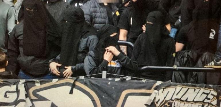 La Svezia vieta passamontagna e velo negli stadi, i tifosi protestano col niqab FOTO