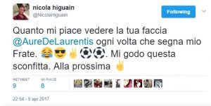 """Higuain, fratello: """"Godo per faccia di De Laurentiis, mi ha bloccato"""""""