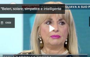 """Fabrizio Corona, la madre Gabriella: """"Belen è solare, simpatica e intelligente. Le voglio bene"""""""