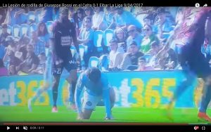 YouTube, Giuseppe Rossi infortunio in Celta Vigo-Eibar