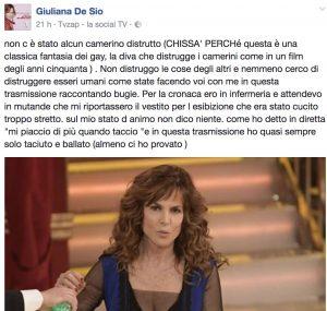 """Ballando con le stelle, """"Giuliana De Sio sta distruggendo i camerini"""" 3"""