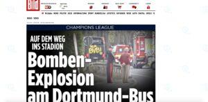 Borussia Dortmund, esplode finestrino pullman: ferito Bartra