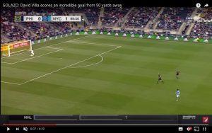 YouTube, David Villa come Beckham e Maradona: gol da 50 metri