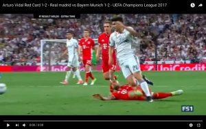 YouTube, Real-Bayern: Arturo Vidal espulso ma fallo non c'era