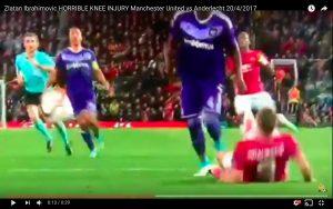 YouTube, Zlatan Ibrahimovic: ginocchio ko, infortunio grave
