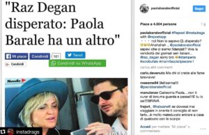 """Raz Degan """"disperato"""", Paola Barale """"con un altro"""". Ma la verità è..."""