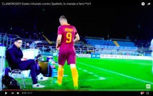 YouTube, Pescara-Roma: Dzeko 'vaffa' a Spalletti per sostituzione