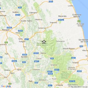 Terremoto Macerata, nuova scossa del 2.8 tra Visso e Preci