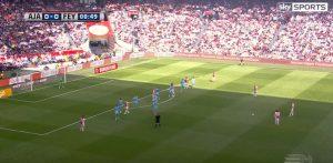 Ajax: Lasse Shone segna così, dopo 50 secondi dal fischio d'inizio