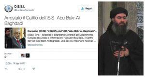 """Isis, sito iracheno su Twitter: """"Al Baghdadi catturato"""". Bufala o realtà?"""