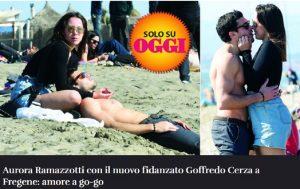 Aurora Ramazzotti e Goffredo Cerza: baci e coccole in spiaggia