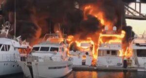 YOUTUBE Barcellona, in fiamme quattro yacht di lusso al porto