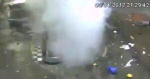 Brasile, auto esplode mentre fa rifornimento di gas