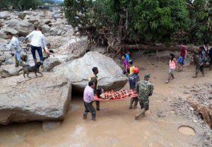 Colombia, frana gigantesca su Mocoa: oltre 90 morti e 200 feriti (foto Ansa)