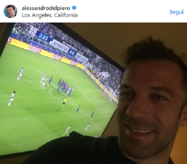 Juventus - Barcellona, Del Piero portafortuna: lui posta e Dybala segna