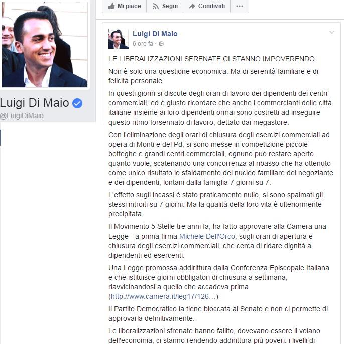 M5S, Luigi Di Maio: