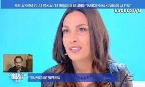 """Domenica Live, l'ex moglie di Marco Baldini: """"Mi ha rovinato la vita"""""""