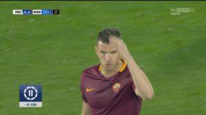 Dzeko, lite Spalletti-Panucci in tv. Per l'attaccante della Roma multa in arrivo