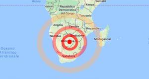 Terremoto, forte scossa di magnitudo 6.5 in Botswana
