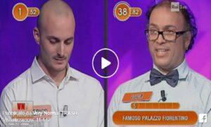 """L'Eredità, gaffe del concorrente: """"Famoso palazzo fiorentino? Palazzo stronz..."""" VIDEO"""
