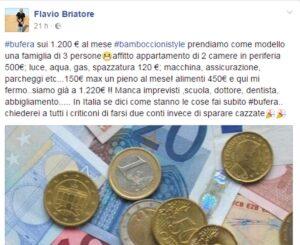 """Flavio Briatore sui 1300 euro: """"Fate bene i conti, non dite caz***"""""""