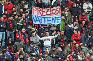 "Genoa-Atalanta,  striscione ""Preziosi vattene"" (ANSA/SIMONE ARVEDA)"