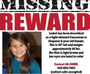 Stati Uniti: dopo cinque anni trovati i resti della piccola Isabel