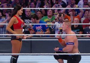 John Cena e la proposta di matrimonio a Nikki Bella sul ring