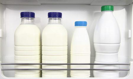 Latte nello sportello del frigorifero? Ecco perchè non ci va messo